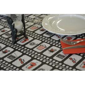 """Pre-Cut Paper Tablecloth """"Cinem (400 Units) a"""" 37g 1x1m (400 Units)"""