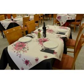 """Pre-Cut Paper Tablecloth """"Bouquet"""" 37g 1x1m (400 Units)"""