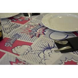 """Pre-Cut Paper Tablecloth """"Boom (400 Units) """" 37g 1x1m (400 Units)"""