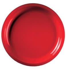 "Plastic Plate Red ""Round"" PP Ø29 cm (300 Units)"