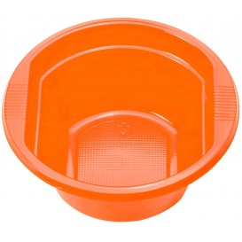 Plastic Bowl PS Orange 250ml Ø12cm (30 Units)