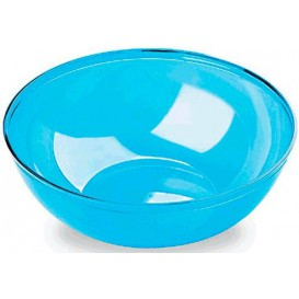 Plastic Bowl PS Crystal Hard Turquoise 3500ml Ø27cm (20 Units)