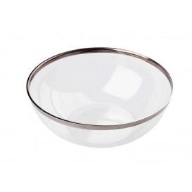 Plastic Bowl with Rim PS Crystal Hard 400ml Ø14cm (80 Units)