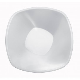 "Plastic Bowl PP ""Square"" White 1250ml Ø21cm (3 Units)"
