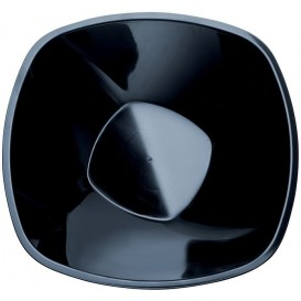"""Plastic Bowl PP Black """"Square"""" 3000ml Ø27,7cm (3 Units)"""