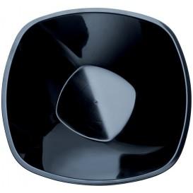 """Plastic Bowl PP Black """"Square"""" 3000ml Ø27,7cm (30 Units)"""