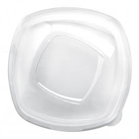 "Plastic Lid PET Crystal ""Square"" Ø21cm (60 Units)"