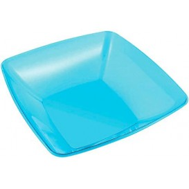 Plastic Bowl PS Crystal Hard Turquoise 3500ml 28x28cm (20 Units)