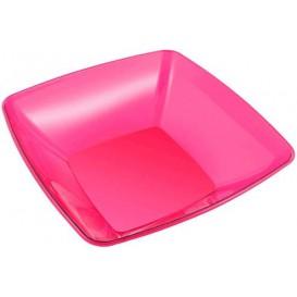 Plastic Bowl PS Crystal Hard Raspberry 3500ml 28x28cm (20 Units)