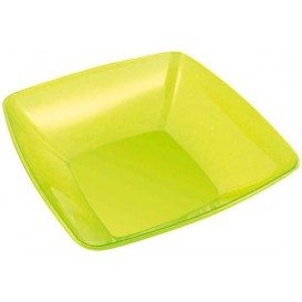 Plastic Bowl PS Crystal Hard Green 3500ml 28x28cm (20 Units)