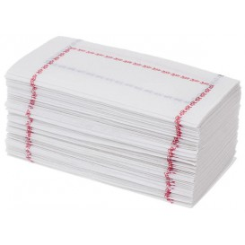 """Paper Napkin """"Zigzag"""" Red and Blue 14x14 (250 Units)"""