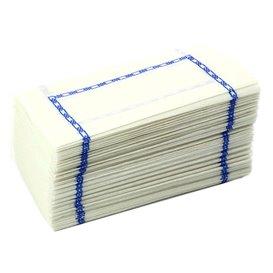 """Paper Napkin """"Zigzag"""" Decorative Border White 14x14cm (300 Units)"""