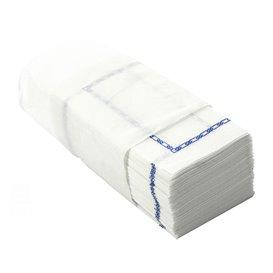 """Paper Napkin """"Zigzag"""" Decorative Border White 14x14cm (30000 Units)"""