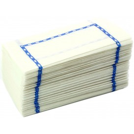 "Paper Napkin ""Zigzag"" Blue 14x14 (250 Units)"