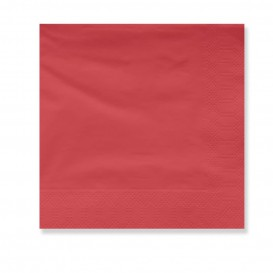 Paper Napkin Edging Red 2 Layers 30x30cm (100 Units)