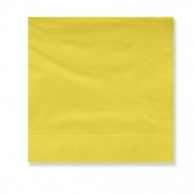 Paper Napkin Edging Yellow 2 Layers 30x30cm (100 Units)