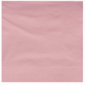 Paper Napkin Edging Salmon 40x40cm (50 Units)