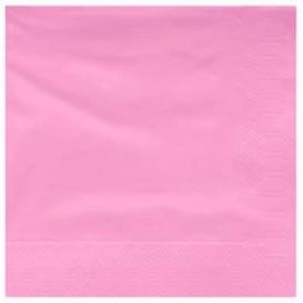 Paper Napkin Edging Pink 40x40cm (50 Units)