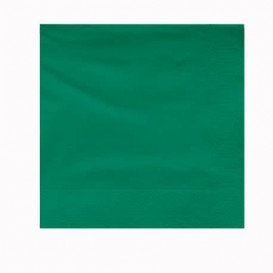 Paper Napkin Edging Green 2 Layers 30x30cm (100 Units)