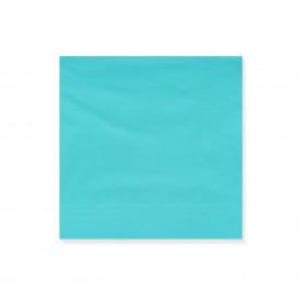 Paper Napkin Edging Turquoise 20x20cm 2C (100 Units)