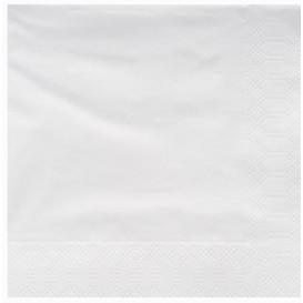 Paper Napkin Edging White 25x25cm 2C (200 Units)
