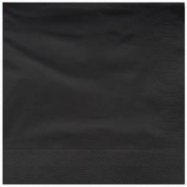Paper Napkin Edging Black 25x25cm 2C (200 Units)