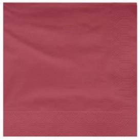 Paper Napkin Edging Burgundy 25x25cm 2C (3400 Units)
