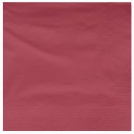 Paper Napkin Edging Burgundy 40x40cm (1200 Units)