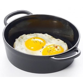 Serving Mini Paella Pan Tray PP Black 9cm (144 Units)