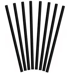 Plastic Straw for Frappé PS Straight Black Ø0,8cm 25cm (1000 Units)