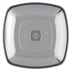 Plastic Plate Flat Clear Square shape PS 18 cm (300 Units)