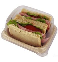 Plastic Lid for Sugarcane Baguette Container 14x11x5cm (75 Units)