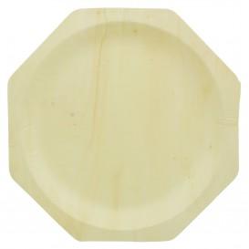 Wooden Plate Octogonal Shape 26cm (50 Units)