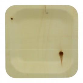 Wooden Plate Square Shape 11,5x11,5cm (400 Units)
