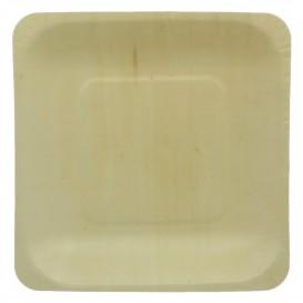 Wooden Plate Square Shape 14x14cm (50 Units)