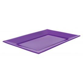 Plastic Tray Lilac 33x22,5cm (3 Units)