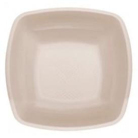 Plastic Plate Deep Beige Square shape PP 18 cm (300 Units)