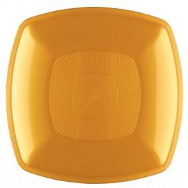 Plato de Plastico Hondo Oro 180mm (144 Uds)