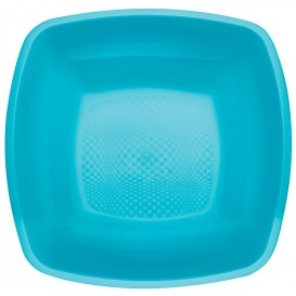 Plastic Plate Deep Turquoise Square shape PP 18 cm (300 Units)