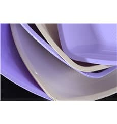 Plastic Plate Flat Beige Square shape PP 23 cm (25 Units)