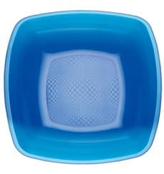 Plastic Plate Deep Blue Square shape PS 18 cm (300 Units)