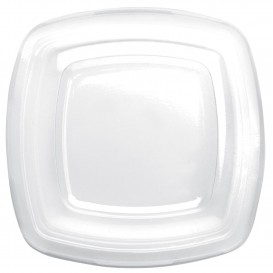 Plastic Lid Clear for Plate Square shape PET 18 cm (25 Units)