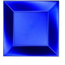 Plato de Plastico Llano Azul Nice Pearl PP 290mm (72 Uds)