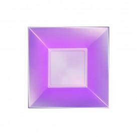 "Plastic Plate Deep Violet ""Nice"" Pearl PP 18 cm (300 Units)"