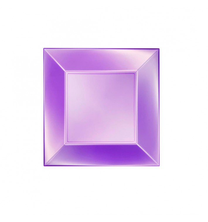 "Plastic Plate Flat Violet ""Nice"" Pearl PP 18 cm (300 Units)"