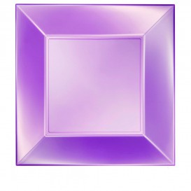 "Plastic Plate Flat Violet ""Nice"" Pearl PP 29 cm (144 Units)"