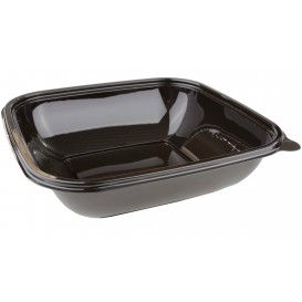 Plastic Bowl PET Black 750ml 190x190x40mm (50 Units)