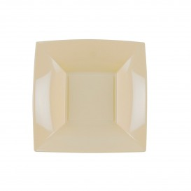 "Plastic Plate Deep Cream ""Nice"" PP 18cm (25 Units)"