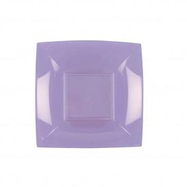 "Plastic Plate Deep Lilac ""Nice"" PP 18 cm (25 Units)"
