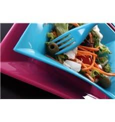 "Plastic Plate Flat Fuchsia ""Nice"" PP 18 cm (25 Units)"